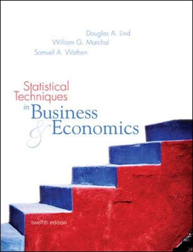 Statistical Techniques in Business and Economics: WITH Student CD-Rom Mandatory Package: Lind, ...