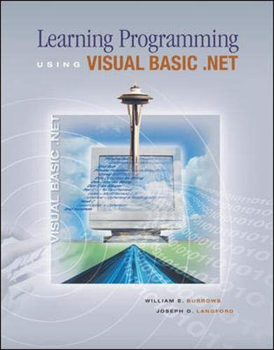 9780071113502: Learning Programming Using Visual Basic .NET w/ 5-CD VB .NET 2003 software: WITH 5-CD VB .NET 2003 Software