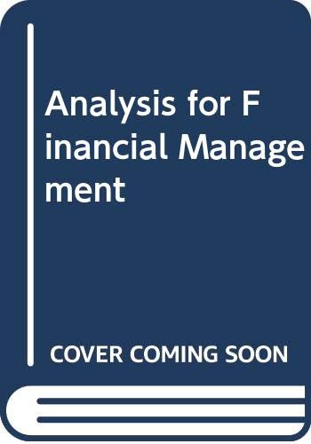 9780071113571: Analysis for Financial Management