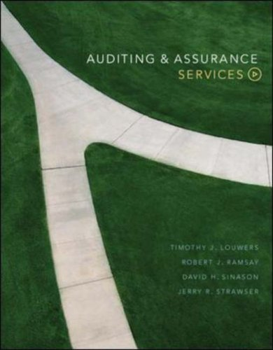 Auditing and Assurance Services: With Olc Premium: Timothy J. Louwers,