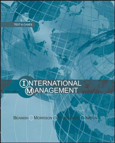 9780071114059: International Management: Text and Cases