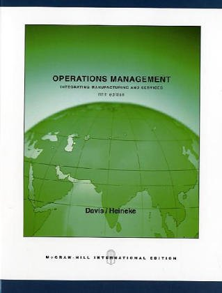 9780071114080: Operations Management, Integrating Manufacturing and Services