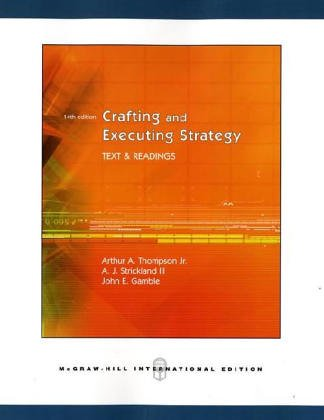 9780071114134: Crafting and Executing Strategy: With Case Tutor Download Code Card and Online Learning Center with Premium Content Card: Text and Readings