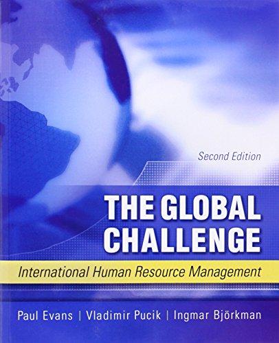 9780071114172: The Global Challenge: International Human Resource Management