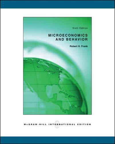 9780071115490: Microeconomics and Behavior