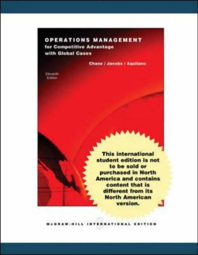 9780071115537: Operations Management for Competitive Advantage with Student DVD and OLC card
