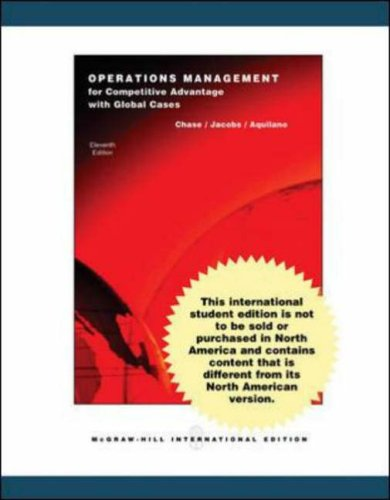 Operations Management for Competitive Advantage with Student: Jacobs, F. Robert