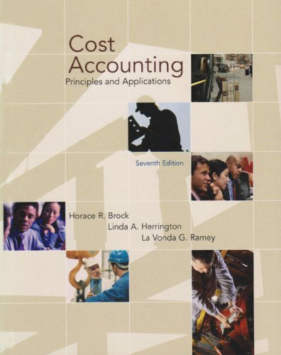 Cost Accounting: Brock Horace R.