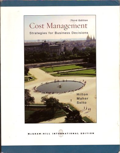 9780071115964: COST MANAGEMENT STRATEGIES FOR BUSINESS DECISIONS THIRD EDITION 2006