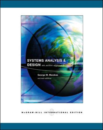 9780071116190: Systems Analysis & Design: An Active Approach. George M. Marakas