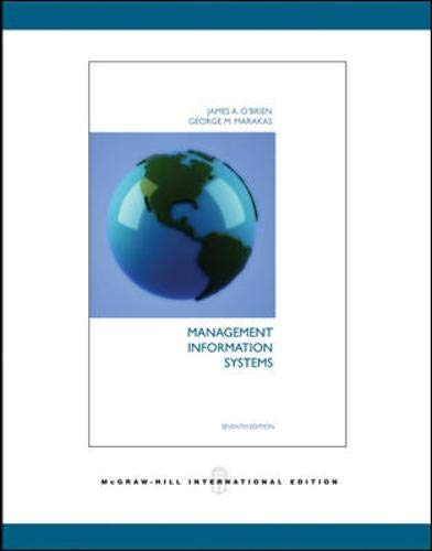 Management Information Systems: James A. O'Brien,
