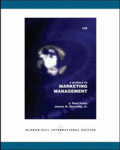 9780071116350: Preface to Marketing Management