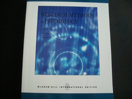 9780071116558: Research Methods In Psychology