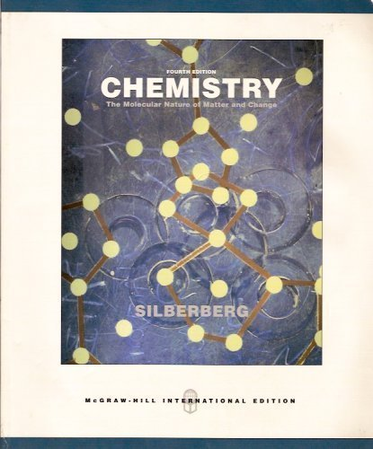 9780071116589: Chemistry (The Molecular Nature of Matter & Change)