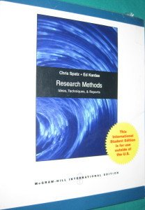 9780071116640: Research Methods in Psychology: Ideas, Techniques, and Reports. Chris Spatz, Edward P. Kardas