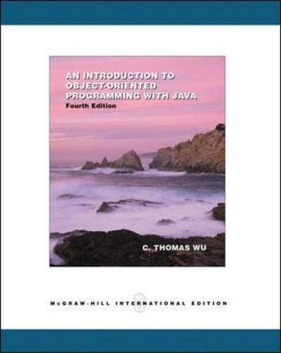 9780071116800: An Introduction to Object-oriented Programming with Java