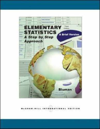 Elementary Statistics: With Mathzone: A Brief Version (0071117199) by Allan G. Bluman