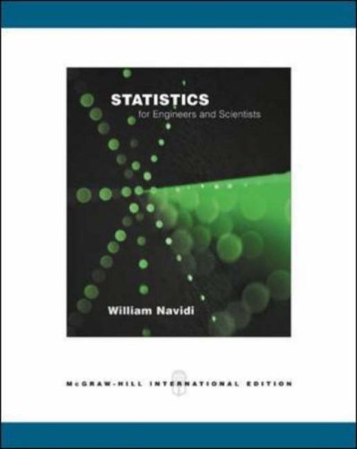 9780071117234: Statistics for Engineers and Scientists