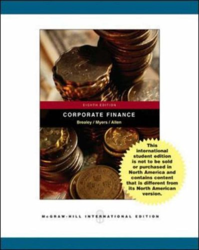 9780071117999: Principles of Corporate Finance: WITH Student CD, Ethics in Finance PowerWeb AND Standard and Poor's