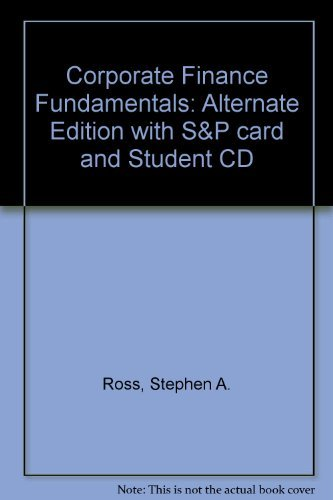 9780071118026: Corporate Finance Fundamentals: Alternate Edition with S&P card and Student CD