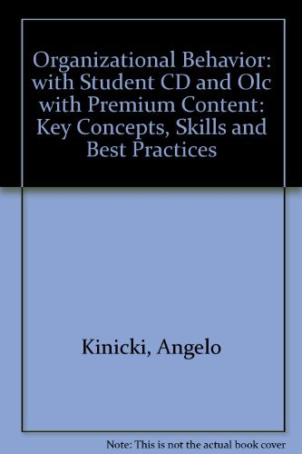 9780071118118: Organizational Behavior: with Student CD and Olc with Premium Content: Key Concepts, Skills and Best Practices