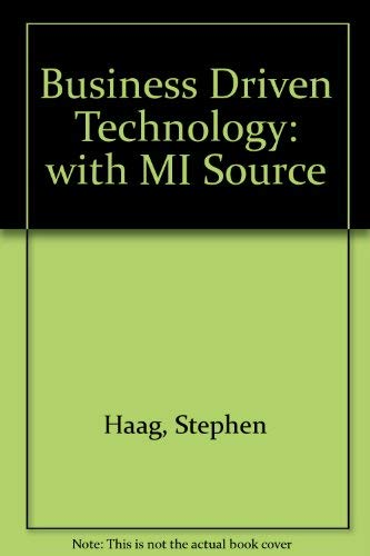 9780071118361: Business Driven Technology: with MI Source