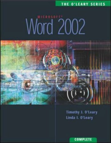 9780071120975: Word 2002: Complete Edition (O'Leary)