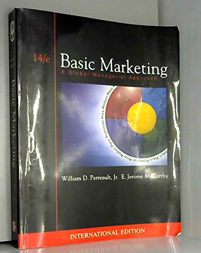 9780071121101: Basic Marketing: A Global-Managerial Approach (McGraw-Hill/Irwin Series in Marketing)