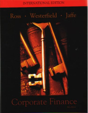 Corporate Finance: Jeffrey F. Jaffe;