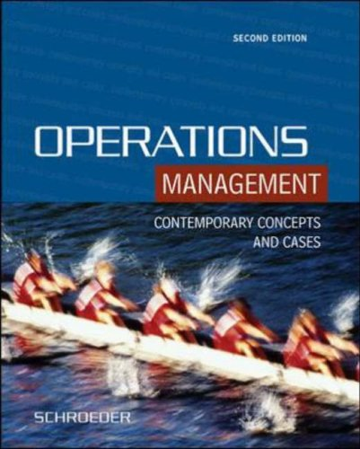 9780071121279: Operations Management: Contemporary Concepts and Cases