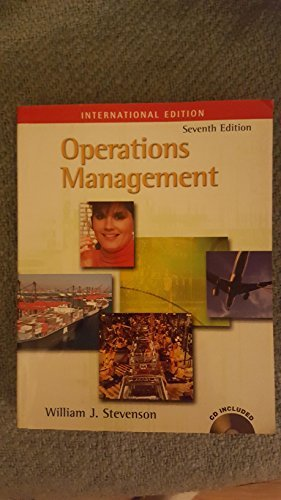 Operations Management, International Edition (Book Only) (0071121293) by William J. Stevenson