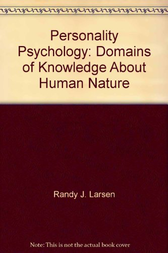 9780071121408: Personality Psychology: Domains of Knowledge About Human Nature