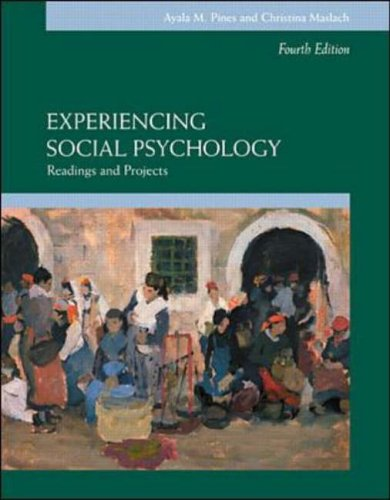 9780071121521: Experiencing Social Psychology (McGraw-Hill series in social psychology)