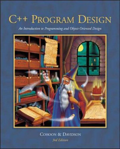 9780071121835: C++ Program Design: An Introduction to Programming and Object-oriented Design