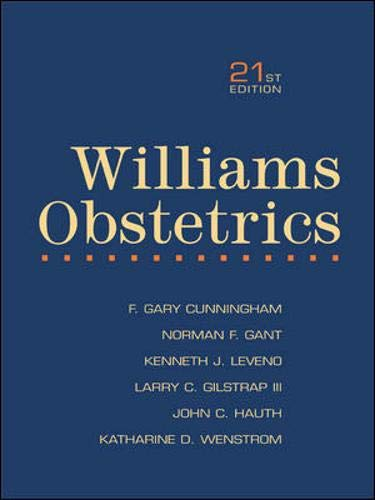 9780071121958: Williams Obstetrics: International Student Edition