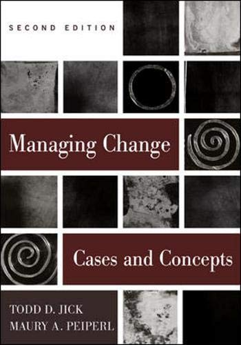 9780071122207: Managing Change: Cases and Concepts