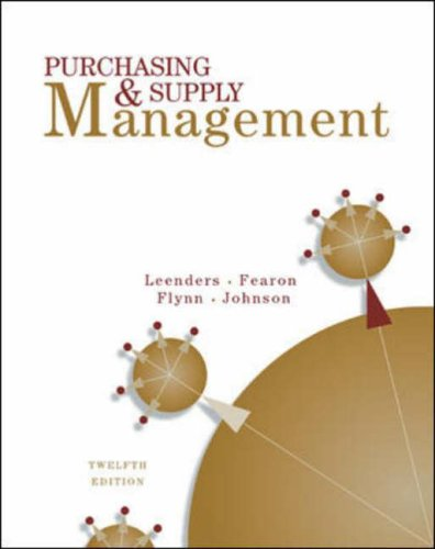 9780071122238: Purchasing and Supply Management