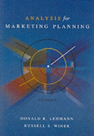 lehmann and winer%2C product management%2C mcgraw hill%2Firwin  9780071122245: Analysis for Marketing Planning (McGraw-Hill/Irwin ...
