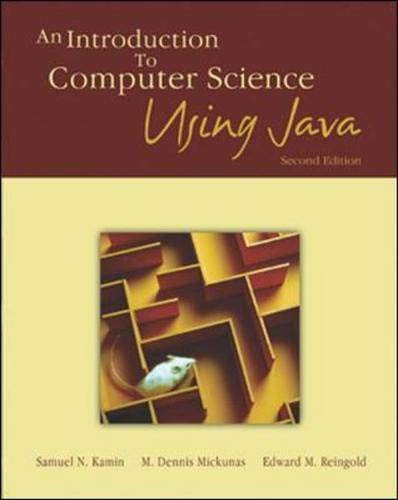 9780071122320: An Introduction to Computer Science Using Java
