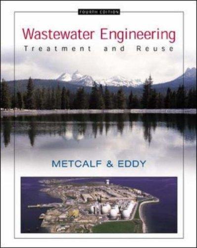 Wastewater Engineering: Metcalf ,