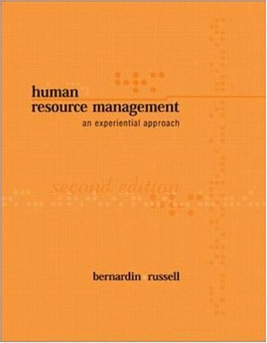 9780071123013: Human Resource Management: An Experiential Approach