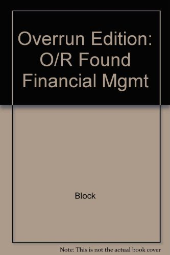 9780071123037: Foundations of Financial Management