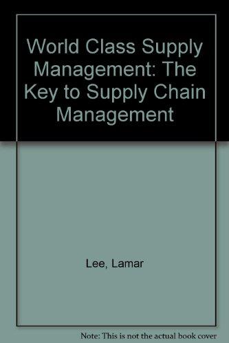 9780071123105: World Class Supply Management