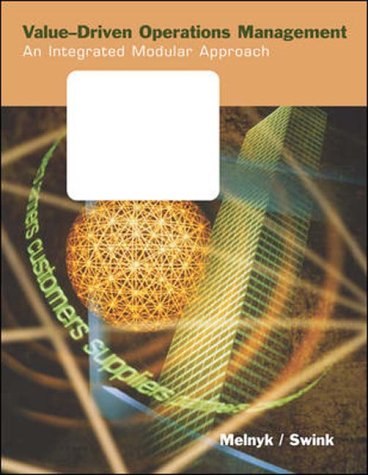 9780071123235: Value-Driven Operations Management: An Integrated Modular Approach