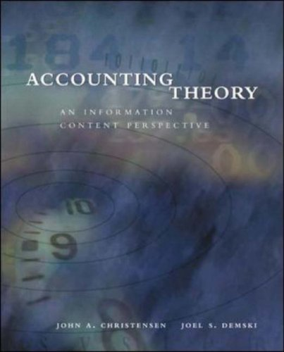 9780071123273: Accounting Theory: An Information Content Perspective
