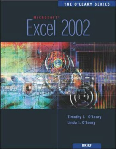 9780071123563: Excel 2002 (O'Leary Series)