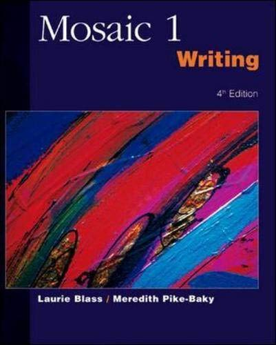 9780071123921: Mosaic 1 - Writing