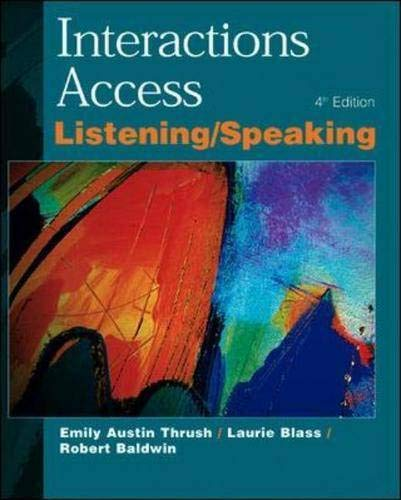 9780071124010: Interactions Access: Listening & Speaking