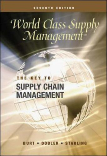 9780071124386: World Class Supply Management: Cases: The Key to Supply Chain Management
