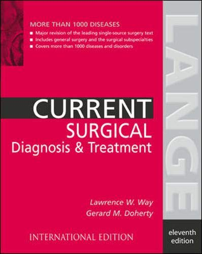 9780071124447: Current Surgical Diagnosis and Treatment (Lange Current Series)